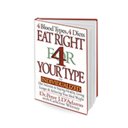 D'Adamo Personalized Nutrition Eat Right 4 Your Type Book